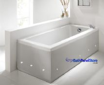 Luxury Silver 2 Piece adjustable Bath Panels with LED Lights